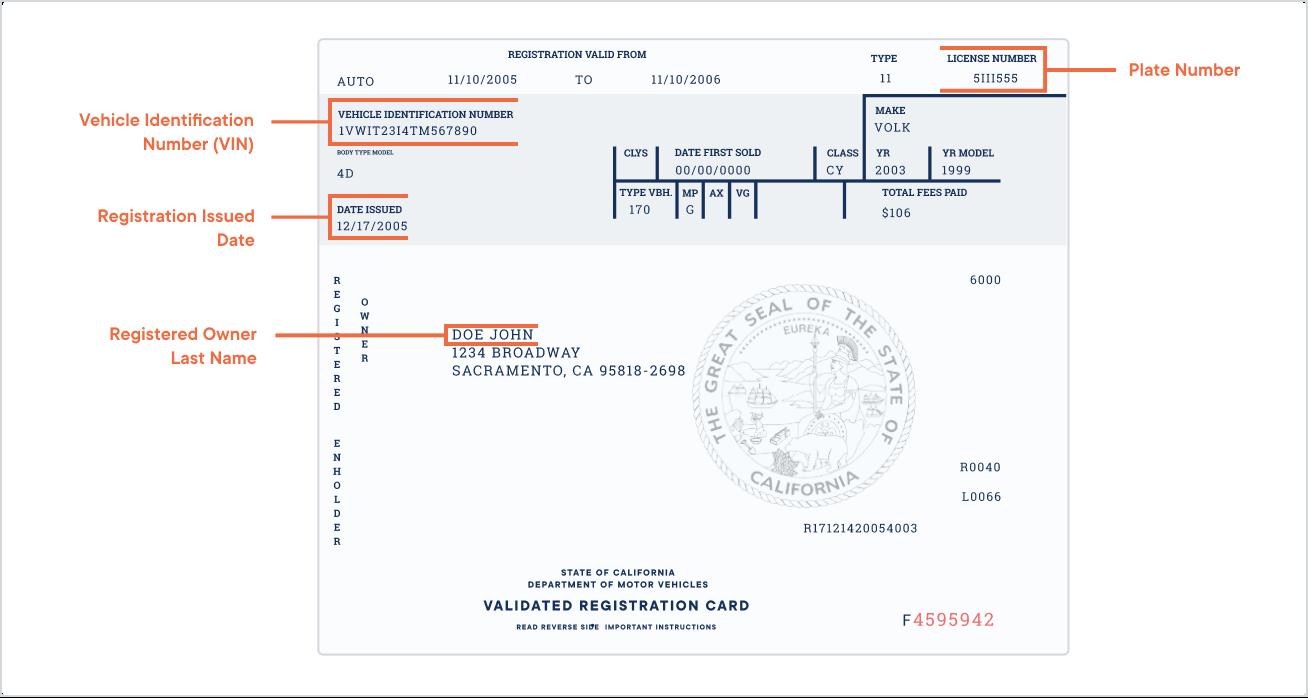 Vehicle registration renewal notice paper back